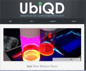 COURTESY IMAGE A screen shot of one of the entry pages for UbiQD. mmurphy@abqjournal.com Tue Aug 12 14:19:00 -0600 2014 1407874739 FILENAME: 176550.jpg